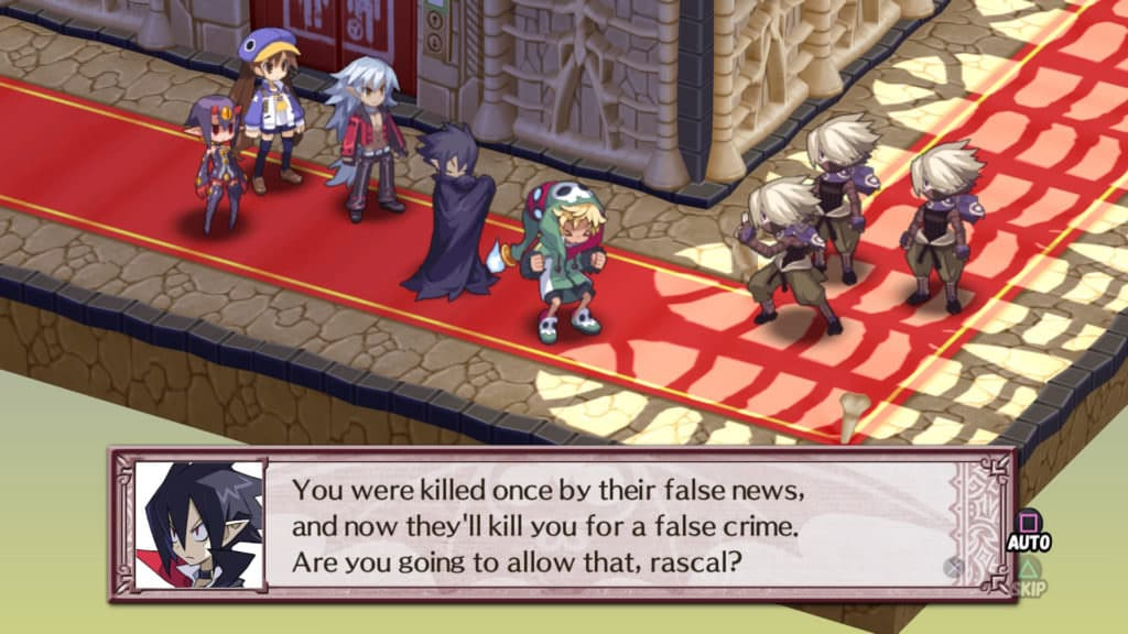 Disgaea 4 Complete+ - Valvatorez gradually convincing Emizel at Netherworld Information Bureau - Playstation 4 -Screenshot Credit: Nir Regev via NIS America / Nippon Ichi Software