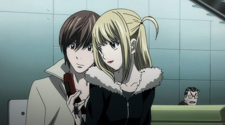Misa Amane [Shannon Chan-Kent] and Light Yagami [Brad Swaile] in English Dub of Death Note - Screenshot Photo via VRV / Crunchyroll