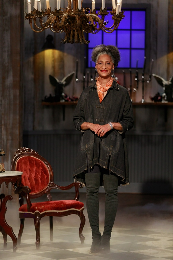 Host Carla Hall as seen on Halloween Baking Championship, Season 6. - Contestants Aaron Clouse, Brian Bosch, Edward Cunningham, Holly Braddock, Michael Gaddy, Michelle Lee, Nerwan Khalife, Renee Loranger, Sinai Vespie, Tamara Brown, as seen on Halloween Baking Championship, Season 6. - Photo Credit: Courtesy of Food Network