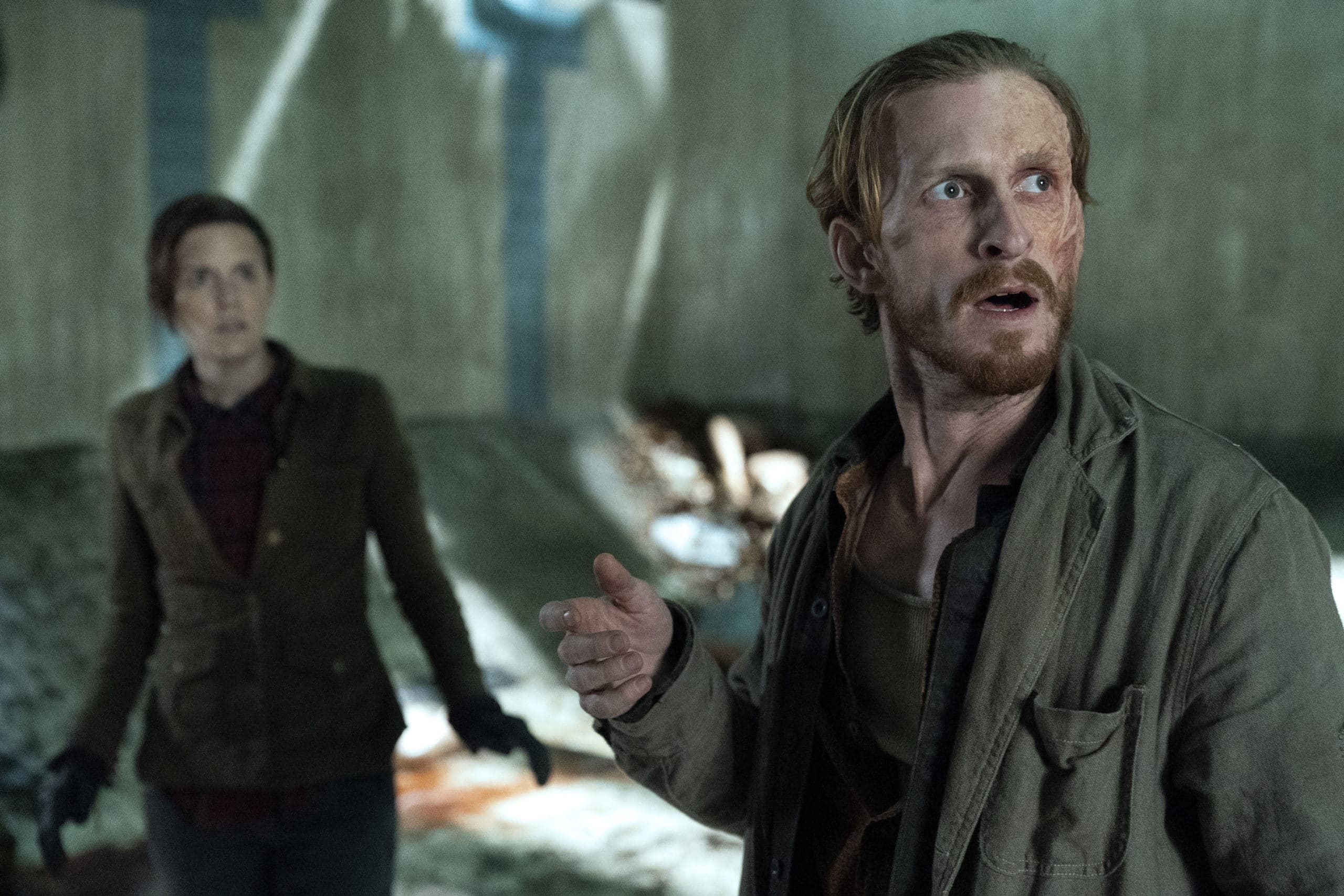 Maggie Grace as Althea and Austin Amelio as Dwight