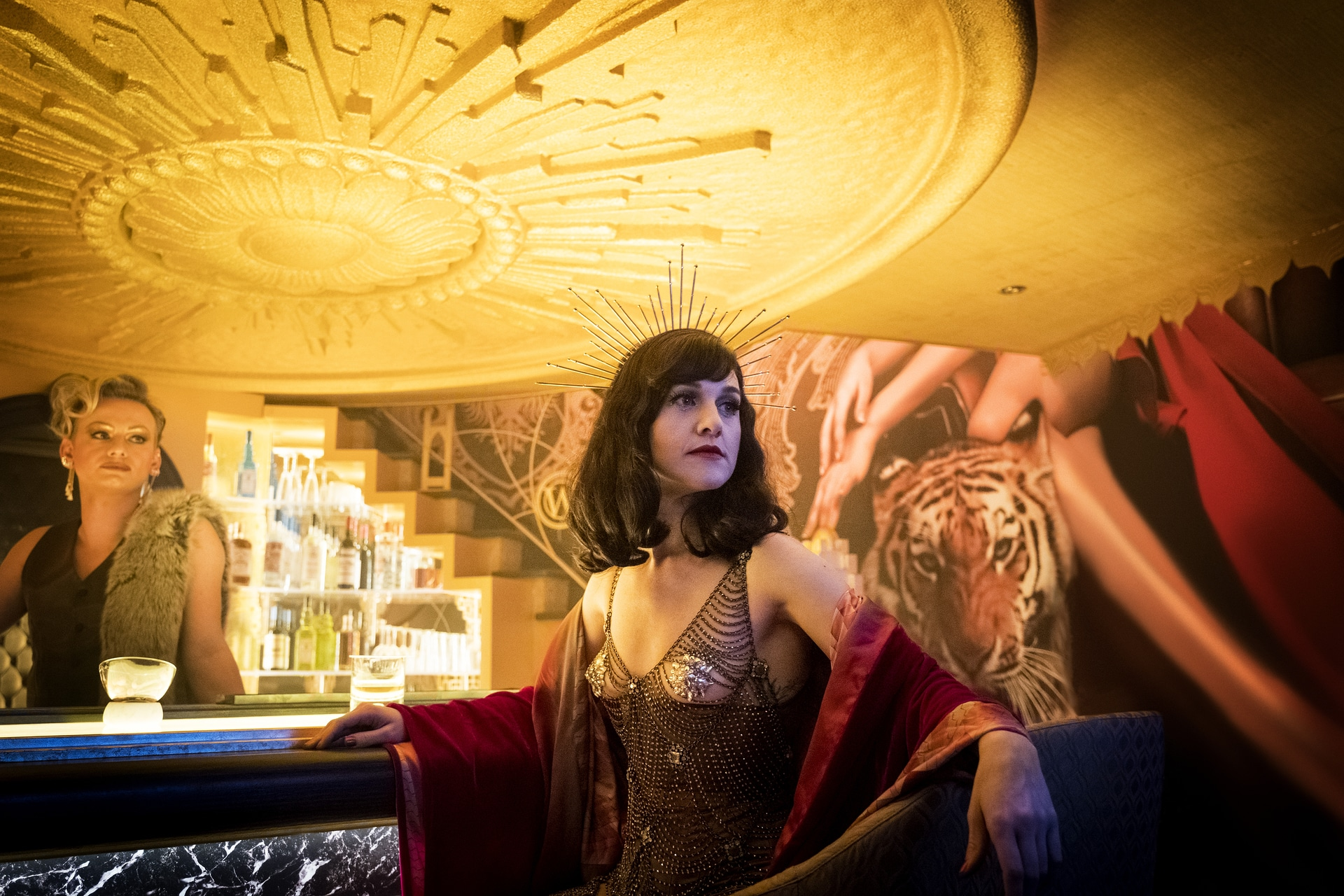 Lena Hall as Miss Audrey on Snowpiercer - Photo Credit: Justina Mintz